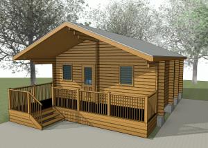 #revit #log cabin