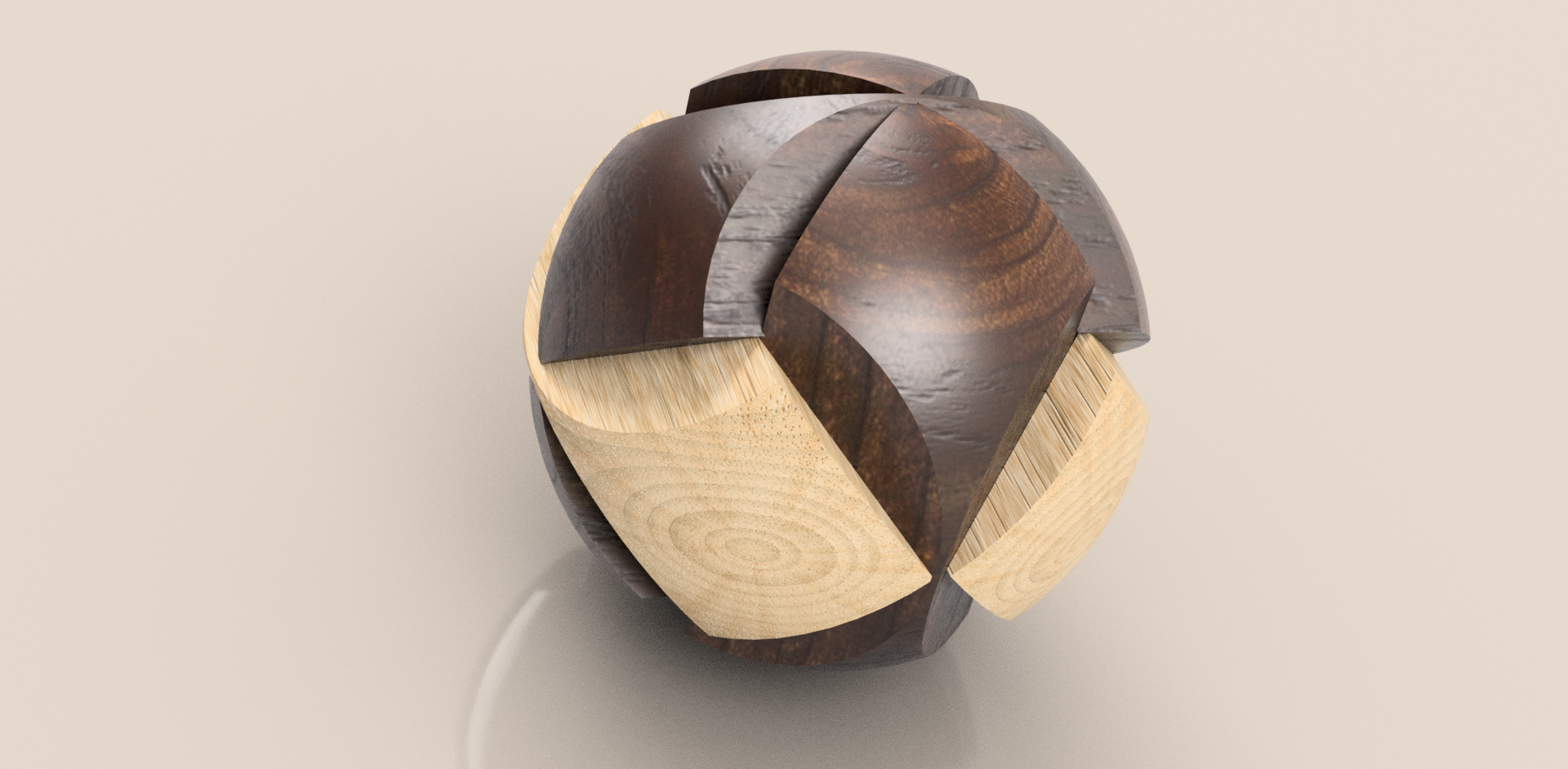 Wooden Ball Puzzle 3D Model
